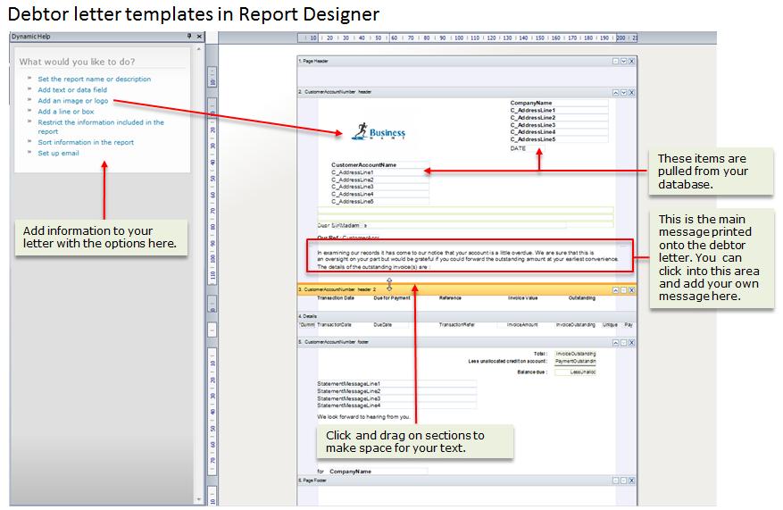 Credit control set up setting up debtor letter templates in report designer spiritdancerdesigns Images
