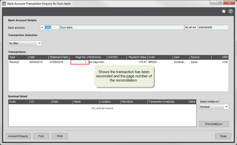 how to get the gj on a transaction in sage
