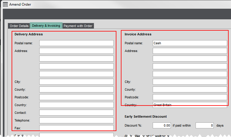 invoice and sales order settings and defaults