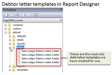 set up debtor chase letter templates