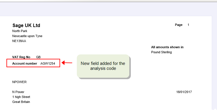 How to add analysis codes
