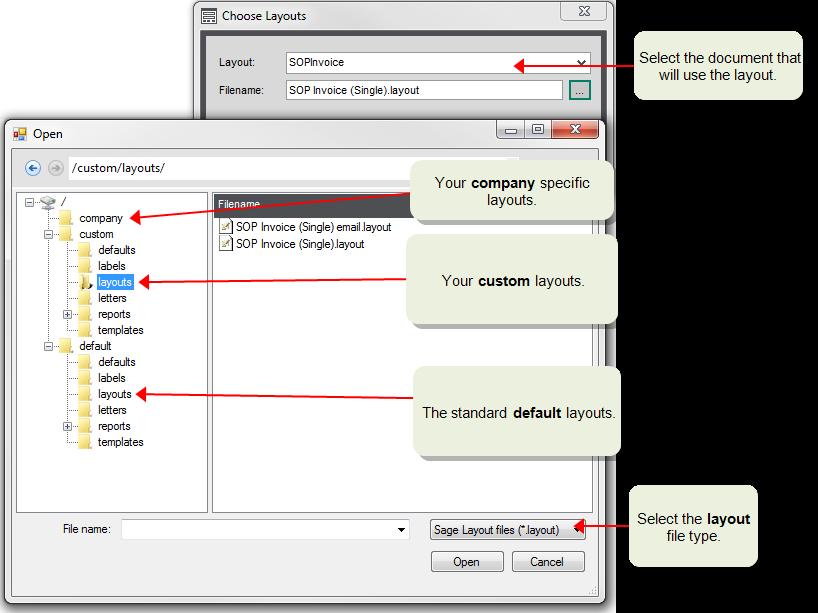 Use custom layouts